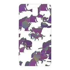 Many Cats Silhouettes Texture Samsung Galaxy Note 3 N9005 Hardshell Back Case by Amaryn4rt
