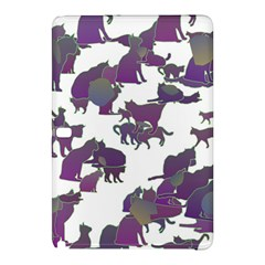 Many Cats Silhouettes Texture Samsung Galaxy Tab Pro 12 2 Hardshell Case by Amaryn4rt