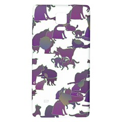 Many Cats Silhouettes Texture Galaxy Note 4 Back Case by Amaryn4rt