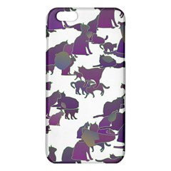 Many Cats Silhouettes Texture Iphone 6 Plus/6s Plus Tpu Case by Amaryn4rt