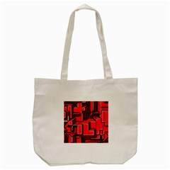 Background With Red Texture Blocks Tote Bag (cream) by Amaryn4rt