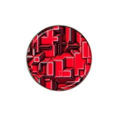 Background With Red Texture Blocks Hat Clip Ball Marker (10 Pack) by Amaryn4rt
