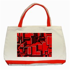 Background With Red Texture Blocks Classic Tote Bag (red) by Amaryn4rt