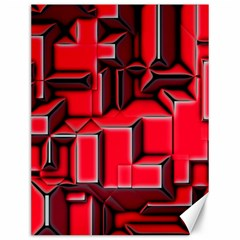 Background With Red Texture Blocks Canvas 12  X 16   by Amaryn4rt
