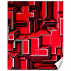Background With Red Texture Blocks Canvas 16  X 20   by Amaryn4rt