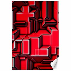 Background With Red Texture Blocks Canvas 20  X 30   by Amaryn4rt