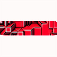 Background With Red Texture Blocks Large Bar Mats by Amaryn4rt
