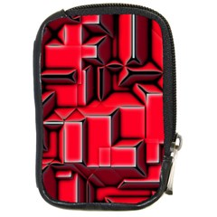 Background With Red Texture Blocks Compact Camera Cases by Amaryn4rt