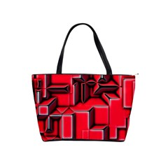 Background With Red Texture Blocks Shoulder Handbags by Amaryn4rt
