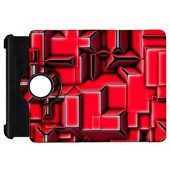 Background With Red Texture Blocks Kindle Fire Hd 7  by Amaryn4rt