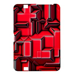 Background With Red Texture Blocks Kindle Fire Hd 8 9  by Amaryn4rt