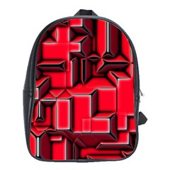 Background With Red Texture Blocks School Bags (xl)  by Amaryn4rt