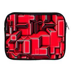 Background With Red Texture Blocks Apple Ipad 2/3/4 Zipper Cases by Amaryn4rt