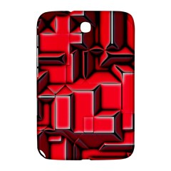 Background With Red Texture Blocks Samsung Galaxy Note 8 0 N5100 Hardshell Case  by Amaryn4rt