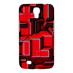 Background With Red Texture Blocks Samsung Galaxy Mega 6 3  I9200 Hardshell Case by Amaryn4rt