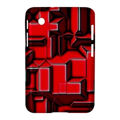 Background With Red Texture Blocks Samsung Galaxy Tab 2 (7 ) P3100 Hardshell Case  by Amaryn4rt
