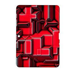 Background With Red Texture Blocks Samsung Galaxy Tab 2 (10 1 ) P5100 Hardshell Case  by Amaryn4rt
