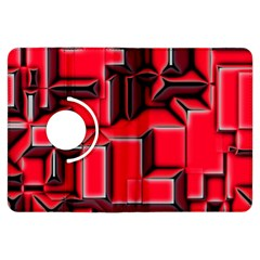 Background With Red Texture Blocks Kindle Fire Hdx Flip 360 Case by Amaryn4rt