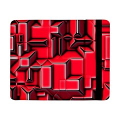 Background With Red Texture Blocks Samsung Galaxy Tab Pro 8 4  Flip Case by Amaryn4rt