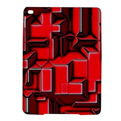 Background With Red Texture Blocks Ipad Air 2 Hardshell Cases by Amaryn4rt