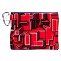 Background With Red Texture Blocks Canvas Cosmetic Bag (xxl) by Amaryn4rt