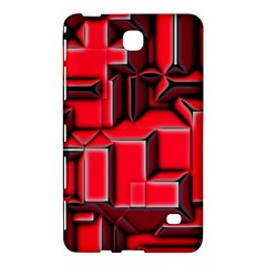 Background With Red Texture Blocks Samsung Galaxy Tab 4 (7 ) Hardshell Case  by Amaryn4rt