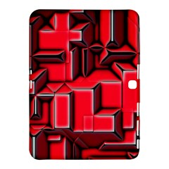 Background With Red Texture Blocks Samsung Galaxy Tab 4 (10 1 ) Hardshell Case  by Amaryn4rt