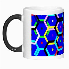 Blue Bee Hive Pattern Morph Mugs by Amaryn4rt