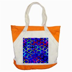 Blue Bee Hive Pattern Accent Tote Bag by Amaryn4rt