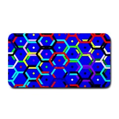 Blue Bee Hive Pattern Medium Bar Mats by Amaryn4rt