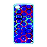 Blue Bee Hive Pattern Apple iPhone 4 Case (Color) Front