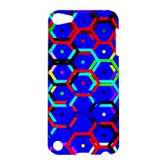 Blue Bee Hive Pattern Apple Ipod Touch 5 Hardshell Case by Amaryn4rt