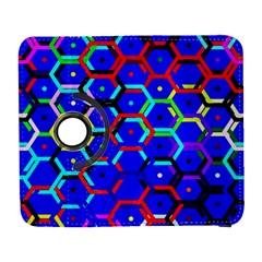 Blue Bee Hive Pattern Galaxy S3 (flip/folio) by Amaryn4rt