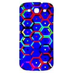 Blue Bee Hive Pattern Samsung Galaxy S3 S Iii Classic Hardshell Back Case by Amaryn4rt
