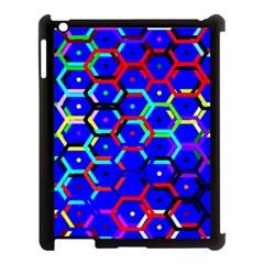 Blue Bee Hive Pattern Apple Ipad 3/4 Case (black) by Amaryn4rt