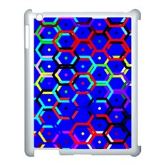 Blue Bee Hive Pattern Apple Ipad 3/4 Case (white) by Amaryn4rt