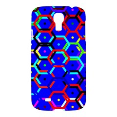 Blue Bee Hive Pattern Samsung Galaxy S4 I9500/i9505 Hardshell Case by Amaryn4rt