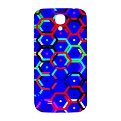 Blue Bee Hive Pattern Samsung Galaxy S4 I9500/i9505  Hardshell Back Case by Amaryn4rt