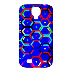 Blue Bee Hive Pattern Samsung Galaxy S4 Classic Hardshell Case (pc+silicone) by Amaryn4rt