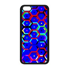 Blue Bee Hive Pattern Apple Iphone 5c Seamless Case (black) by Amaryn4rt
