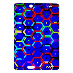 Blue Bee Hive Pattern Amazon Kindle Fire Hd (2013) Hardshell Case by Amaryn4rt