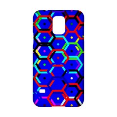 Blue Bee Hive Pattern Samsung Galaxy S5 Hardshell Case  by Amaryn4rt