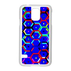 Blue Bee Hive Pattern Samsung Galaxy S5 Case (white) by Amaryn4rt