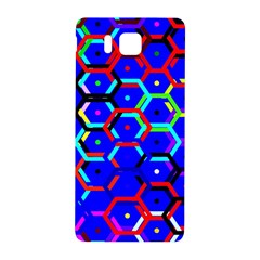 Blue Bee Hive Pattern Samsung Galaxy Alpha Hardshell Back Case by Amaryn4rt