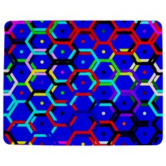 Blue Bee Hive Pattern Jigsaw Puzzle Photo Stand (rectangular) by Amaryn4rt