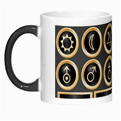 Black And Gold Buttons And Bars Depicting The Signs Of The Astrology Symbols Morph Mugs by Amaryn4rt