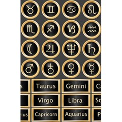 Black And Gold Buttons And Bars Depicting The Signs Of The Astrology Symbols 5 5  X 8 5  Notebooks by Amaryn4rt