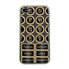 Black And Gold Buttons And Bars Depicting The Signs Of The Astrology Symbols Apple Iphone 4 Case (clear) by Amaryn4rt
