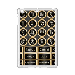 Black And Gold Buttons And Bars Depicting The Signs Of The Astrology Symbols Ipad Mini 2 Enamel Coated Cases by Amaryn4rt