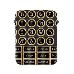 Black And Gold Buttons And Bars Depicting The Signs Of The Astrology Symbols Apple Ipad 2/3/4 Protective Soft Cases by Amaryn4rt